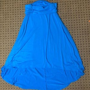 Blue Hi-Lo skirt